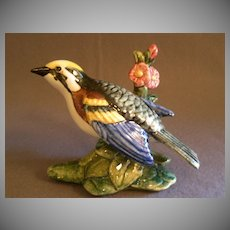"Stangl Pottery ""Chestnut Sided Warbler"" Bird Figurine"