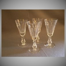 """Set of 4 Waterford Crystal """"Glencree"""" Pattern Sherry Stems"""