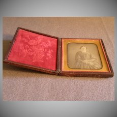 Antique Union Case w/Daguerrotype of Victorian Lady