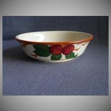 "Vintage Franciscan China ""Apple"" Pattern Round Vegetable Bowl"