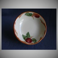 "Set of 4 Vintage Franciscan China ""Apple"" Pattern Fruit/Dessert Bowls"
