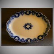 "Johnson Bros Flow Blue ""Savoy"" Oval Serving Platter"
