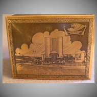 1933 Century of Progress Stamp/Trinket Wood & Metal Box