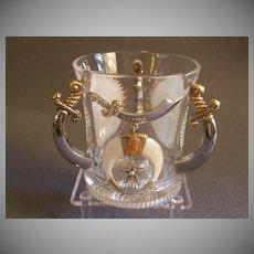 """Shriners/Masonic Syria Temple """"1905 Niagara Falls"""" Souvenir Loving Cup"""
