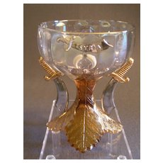 """Shriners/Masonic Syria Temple """"1909 Louisville KY"""" Souvenir Champagne Glass"""