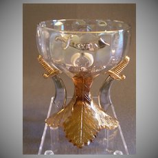 "Shriners/Masonic Syria Temple ""1909 Louisville KY"" Souvenir Champagne Glass"