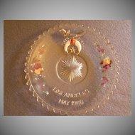 "Shriners/Masonic Syria Temple ""1906 Los Angeles"" Souvenir Dessert/Snack Plate"
