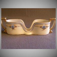 Vintage Noritake Hand Painted Spoon Holder w/Forget-Me-Not Motif