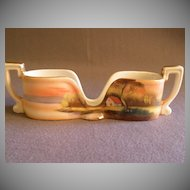 Vintage Noritake Hand Painted Spoon Holder w/Country Sunset Scenic Motif