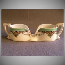 Vintage Noritake Hand Painted Spoon Holder w/Floral Paisley  Motif