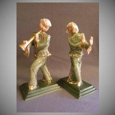 Hedi Schoop Pottery Asian Musician & Dancer Figurines