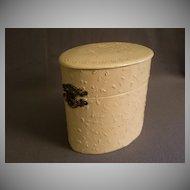 Victorian Celluloid Gentlemen's Cuff Box w/Embossed Floral Motif