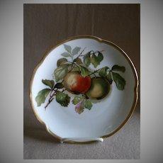 """Jaeger & Co Porcelain """"Fruit Motif"""" Cabinet Plate - Signed A Koch"""