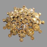 Juliana (DeLizza & Elster) Silver-Tone & Diamond Rhinestone Brooch