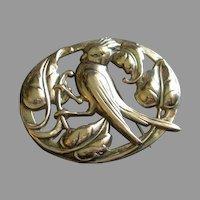 Coro Norseland Sterling Silver 'Cardinal' Brooch