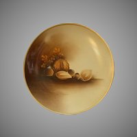 """Stouffer Studio H.P. """"Mixed Nuts"""" Motif Cabinet Plate"""
