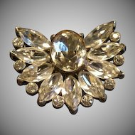 Eisenberg 'Original' Pot Metal & Diamond Rhinestone Fur/Dress Clip