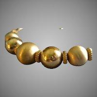 Coro Vendome Shiny & Satin Gold-Tone Bead Collar Necklace