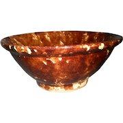 Early Rockingham/Bennington Glaze Yellow-Ware Mixing Bowl