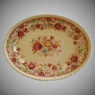"Johnson Brothers Transfer ""Winchester"" Pattern Oval Serving Platter"