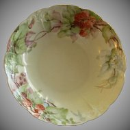 Home Studio Hand Painted Serving Bowl w/Ripe Red Raspberry Motif
