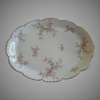 "Charles Haviland & Co., Limoges ""Wild Rose Motif"" Serving Platter, Schleiger 29A, Blank #2"
