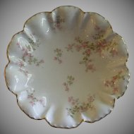 "Charles Haviland & Co., Limoges ""Wild Rose Motif"" Round Flared Serving Bowl, Schleiger 29A, Blank #2"