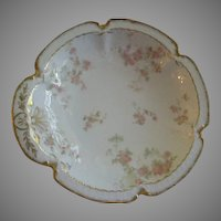 "Charles Haviland & Co., Limoges ""Pink Double Rose Motif"" Bon Bon Bowl"