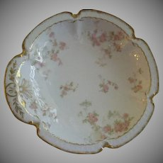 "Charles Haviland & Co., Limoges ""Pink Double Rose Motif"" Bon Bon Bowl"
