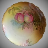 "Jaeger & Co. Porcelain ""Fruit Motif' Cabinet Plate Signed ""A Koch"""