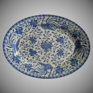 Noritake Blue & White Porcelain 'Howo' Pattern Oval Serving Platter