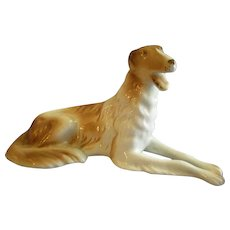 "Royal Dux Porcelain ""Russian Wolfhound"" Figurine"