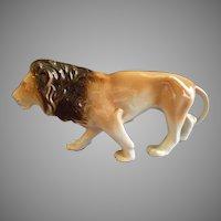 """Royal Dux Porcelain """"Lion"""" Figurine"""