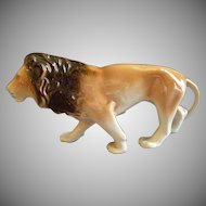 "Royal Dux Porcelain ""Lion"" Figurine"
