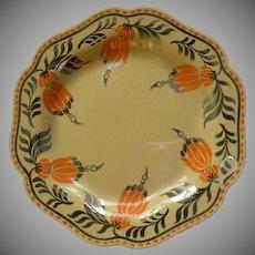 Set of 4 Josiah Wedgwood & Sons Art Deco 'Fuchsia Floral' Salad Plates