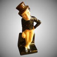 "Royal Doulton Bone China ""Mr Jingle"" Figurine - Charles  Dickens"