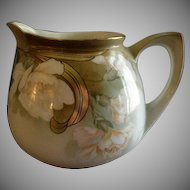 R.S. Germany (Blue Mark) Lemonade pitcher w/Carnation Decoration