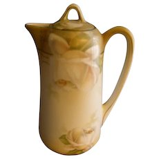 R.S. Germany (Green Mark) Syrup  Pitcher w/Roses Decoration