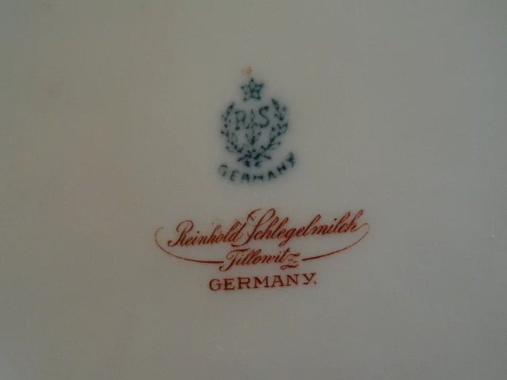 R S  Germany (Blue Mark) Cabinet Plate w/Multi-Colored Poppies Decoration