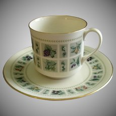 """Set of 4 Royal Doulton """"Tapestry"""" Pattern Cups & Saucers"""