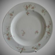 "Theodore Haviland, New York, ""Pink Spray"" Pattern - Set of 4 Dinner Plates"
