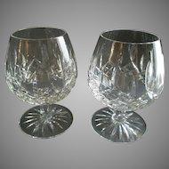 Set of 2 Waterford Crystal 'Lismore' Pattern Brandy Glasses