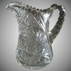"""Brilliant"" Cut Glass Water Pitcher"