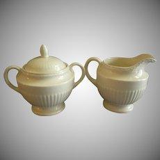 Josiah Wedgwood & Sons 'Edme' Pattern Sugar Bowl & Cream Pitcher Set