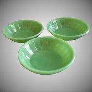 Akro Agate Children's Set of 3 Bowls - Jadite Color