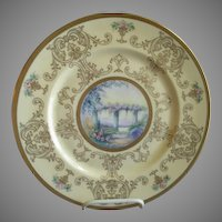 Pickard Studio Hand Painted 'Scenic' Charger w/Gold Decoration - Signed Challinor, Plate 1 of 12