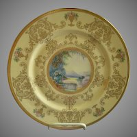 Pickard Studio Hand Painted 'Scenic' Charger w/Gold Decoration - Signed Challinor, Plate 6 of 12