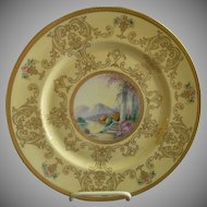 Pickard Studio Hand Painted 'Scenic' Charger w/Gold Decoration - Signed Challinor, Plate 7 of 12