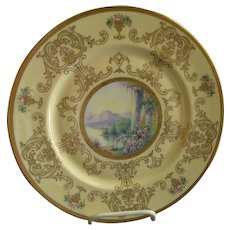 Pickard Studio Hand Painted 'Scenic' Charger w/Gold Decoration - Signed Challinor, Plate 8 of 12