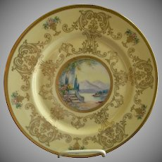 Pickard Studio Hand Painted 'Scenic' Charger w/Gold Decoration - Signed Challinor, Plate 9 of 12